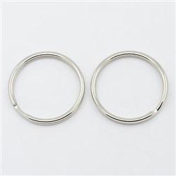 Iron Split Key Rings, Ring, Platinum, 25mm in diameter, 2mm thick, 22mm inner diameter
