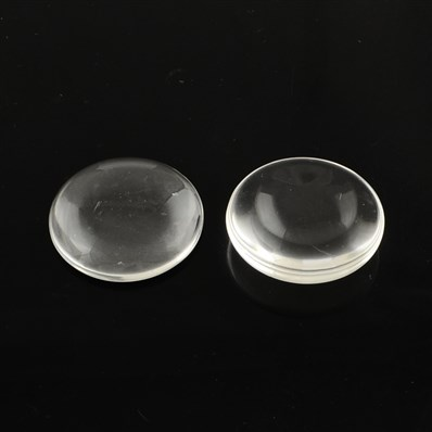 Transparent Flat Round Glass Cabochons, Clear, 16mm in diameter, 4mm t
