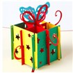 3D Pop Up Gift Box Greeting Cards Happy Birthday Gifts, Red, 10cm wide, 15cm long
