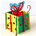 3D Pop Up Gift Box Greeting Cards Happy Birthday Gifts, Red, 10cm wide, 15cm long(DIY-N0001-083R)