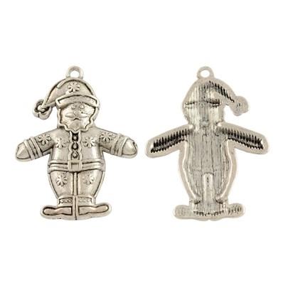 Tibetan Style Alloy Pendant, Christmas Santa Claus, Antique Silver, 28