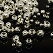 Iron Spacer Beads, Round, Silver, 2~5mm in diameter, hole: 1~2mm