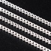 Brass Twisted Chains Curb Chains, Come On Reel, Oval, Silver Color, 2mm long, 1mm wide, 0.35mm thick, approx 92 meters / roll