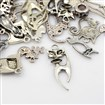 Tibetan Style Pendants, Cat, Mixed Style, Antique Silver, 9~35mm wide, 13~52mm long, 1.5~2.5mm thick, hole: 1.5~3mm