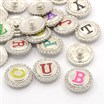 Defective Closeout Sale. Alloy Enamel Rhinestone Buttons, Flat Round Carved Letter Jeans Snap Buttons, Lead Free&Cadmium Free