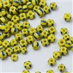 Wholesale-8/0 Glass Seed Beads, Opaque Colours Seep, Yellow, 3mm