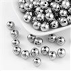 CCB Acrylic Beads, Round, Platinum, 10mm in diameter, hole: 1.5mm