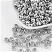 CCB Acrylic Beads, Nickel Color, Flat Round, 5mm long, 7mm wide, hole: 4mm