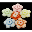 Colorful Acrylic Beads, Craft Style, Flower, Mixed Color, 20mm wide, slide charms