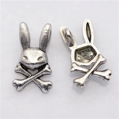 Tibetan Style Alloy Pendants, Rabbit, Lead Free and Cadmium Free, Anti