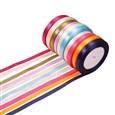 Satin Ribbon, Mixed Color, 10mm wide(K-SRIB-RC10mmY)